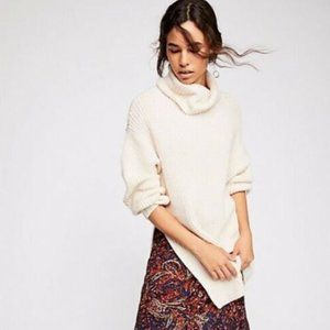 Free People Eleven Chunky Knit Turtle Neck Sweater